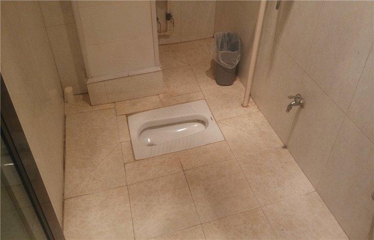 蹲式厕所装修效果图_卫生间墙隔断效果图_装修效果图
