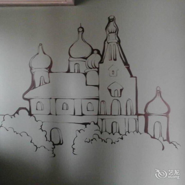 手绘小屋铅笔画