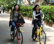 武汉大学盛行共享单车,方便学生(图)