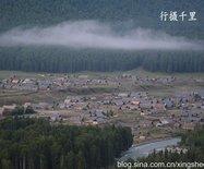 摄影天堂禾木村:哈登平台俯瞰最大的图瓦人村落