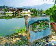 水墨畫的宏村,傾聽光陰的故事