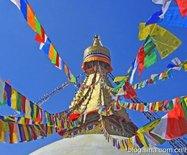 尼泊尔加德满都大白塔