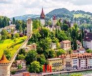 最具瑞士风情的城市:美?#32622;?#22850;卢塞恩景观
