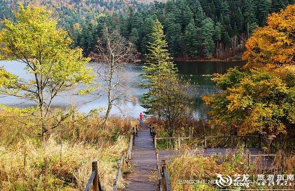 牡丹江镜泊湖地下森林公园鸳鸯湖