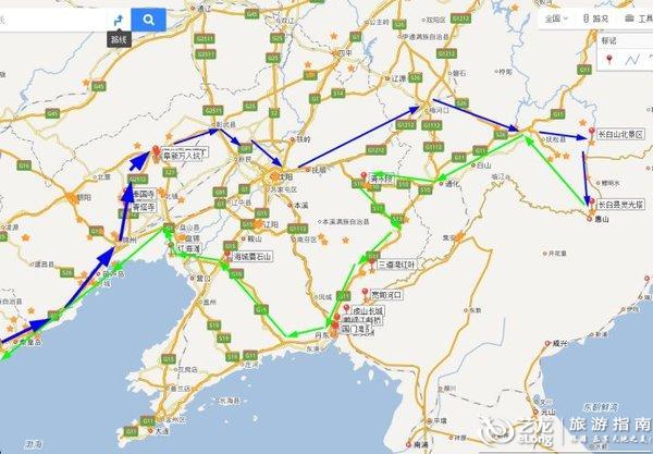 防川景区地图
