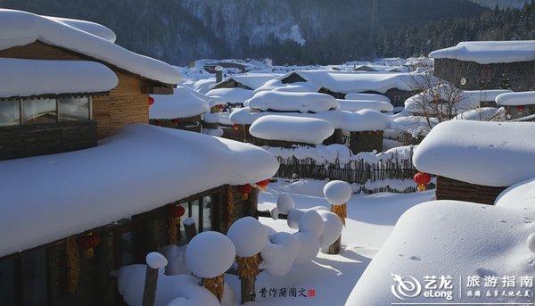 实拍:梦乡里的雪乡,本色洁白