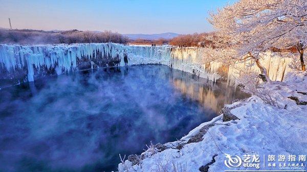 穿过清寒凛冽.雾凇两旁.走近中国最美冰瀑-么么锐行摄