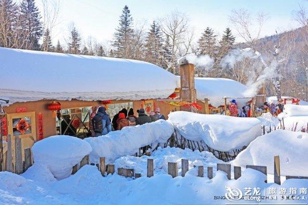 探秘雪乡大雪谷,走进浓缩版的东北民俗风情画卷
