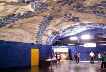 斯德哥尔摩的地铁艺术