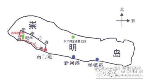 凤凰山休闲公园_崇明岛地图 - 图片 - 艺龙旅游指南