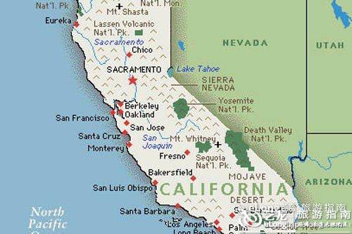重庆到西安旅游攻略_加利福尼亚地图 - 图片 - 艺龙旅游指南