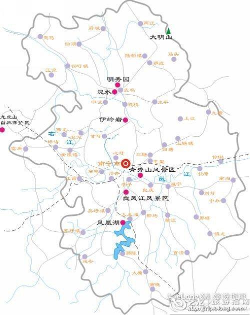 上海厦门特价机票_南宁地图 - 图片 - 艺龙旅游指南