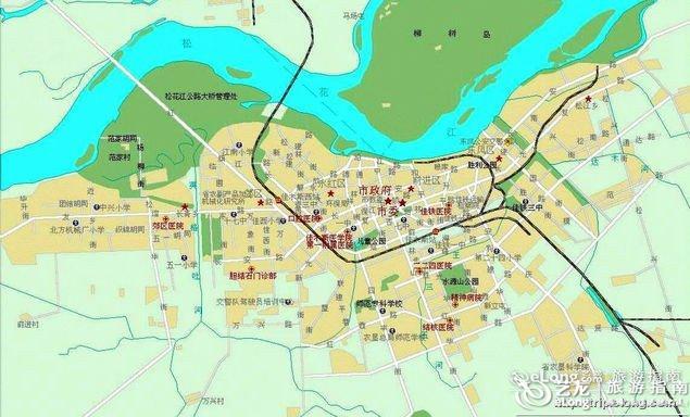 佳木斯地图