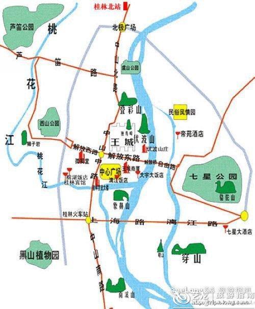 重庆到西安旅游攻略_桂林地图 - 图片 - 艺龙旅游指南
