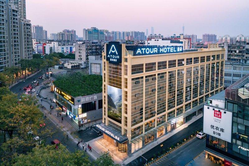 广州江泰路地铁站亚朵酒店酒店外观